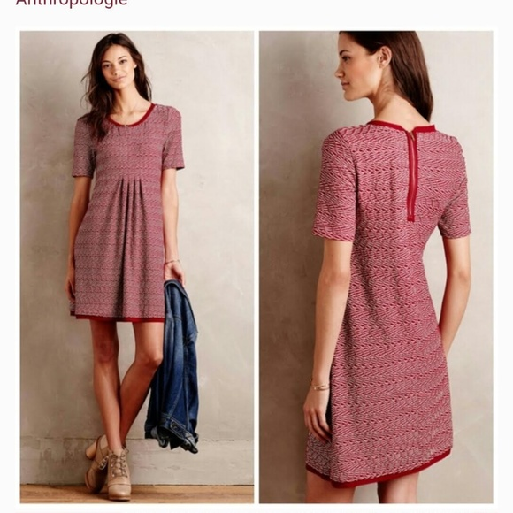 Anthropologie Dresses & Skirts - Maeve Dora Textured Dress with exposed back zipper